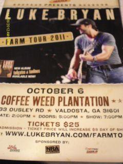 Luke Bryan Farm Tour 2011 Mini Poster