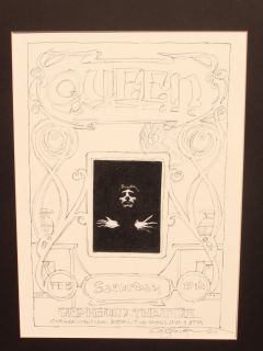 Original Pencil Drawing Queen One of A Kind by Carl Lundgren