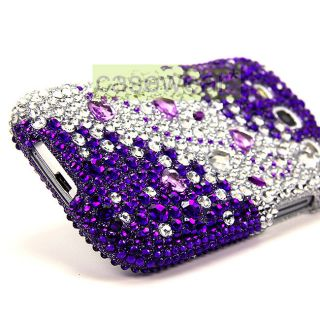 Luxmo Purple Splash Diamond Bling Hard Case Cover for Samsung Galaxy