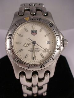 LUXURY SWISS MENS FORBEL SPORTS STAINLESS SILVER TONE DATE QUARTZ