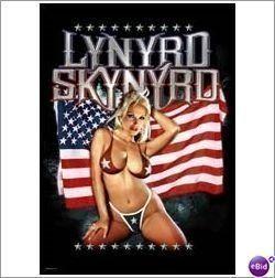 Lynyrd Skynyrd Bikini Girl Poster Flag