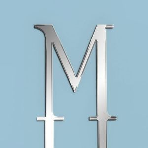 Mirror Letter M Large Mirror Topper New Look