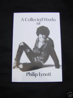Phil Lynott Thin Lizzy Collected Works of Book Mint