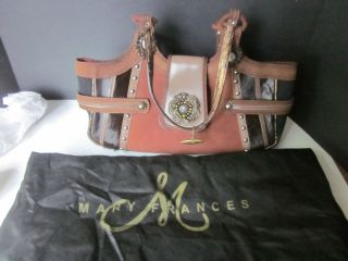 Mary Frances Suede Leather Hide Purse