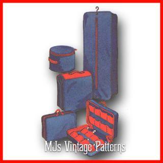 Vtg Pattern Barbie Tammy Accessories Luggage Suitcase Garment Bag Hat