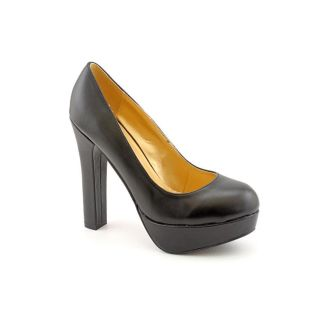 Luichiny Lights Out Womens Size 10 Black Leather Platforms Shoes New