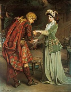 Flora MacDonalds Farewell to Bonnie Prince Charlie Joy Oil Painting
