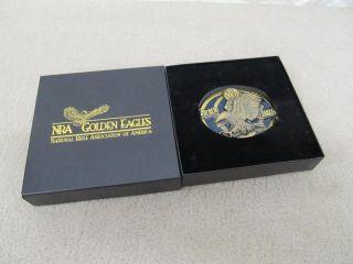 NRA Golden Eagles Belt Buckle New in Pack Vintage