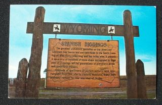 1970s Sign Lusk Spanish Diggings WY niobrara Co PC