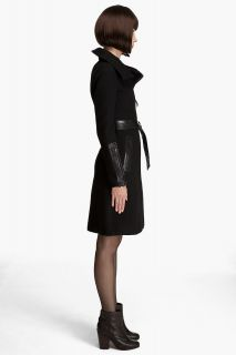 New Mackage Zipper Wool Leather Coat Jacket