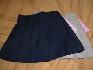 IZOD Skooter Scooter Khaki Navy Blue School Uniform Skirt Free SHIP