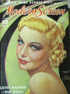 Modern Screen Magazine July 1937 Madeleine Carroll