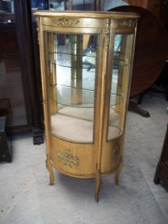 French Style Gilt Bronze Mounted Vernis Martin Curio Cabinet