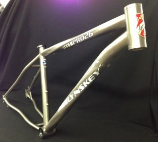 Lynskey PRO26 Titanium Helix Hardtail Mountain Bike Frame 19 Large