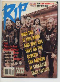 Pearl Jam Live Bush Monster Magnet Rip Magazine 1995