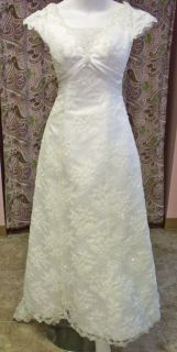 Maggie Sottero Couture Grace Kelly J135 Lace Bridal Gown Size 2 Lace