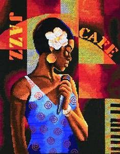 Maia Counted Cross Stitch Kit Jazz Café