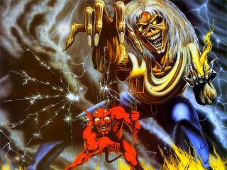 Eddie The Head Iron Maiden Poster Print Art 666 Number of The Beast