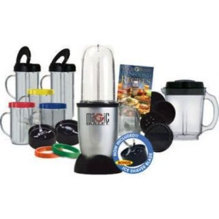 Magic Bullet Deluxe 26 PC Blender Mixer Set Ice Shaver Blade New
