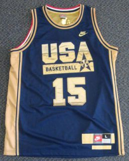 Magic Johnson Autographed Signed Nike Blue Team USA Jersey PSA DNA
