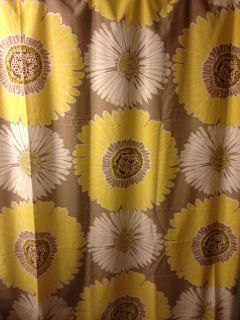 Style Bloom Fabric Shower Curtain New Sunflowers 72 in x 72 In