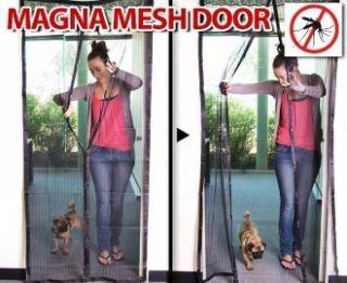 Magnetic Mesh Fly Screen Door Curtain Magnet Closure Pet Dog Door