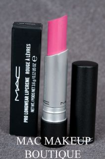Mac Pro Longwear Lipstick Love Forever Bright Blue Pink 100 Authentic