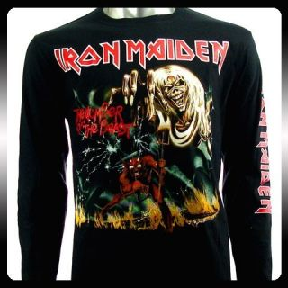 Iron Maiden Rock Punk LS Long Sleeve T shirt Sz M Heavy Metal Biker