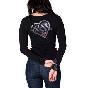 Metal Mulisha Maidens Amanda Girls Long Sleeve Top Cut Out Lace Back