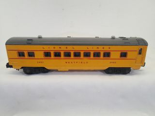 1950 Lionel Lines 2482 Westfield Anniversary Passenger Car