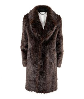 MAISON MARTIN MARGIELA for H M Mens Faux Beaver Fur Coat 38R 40R 48 50