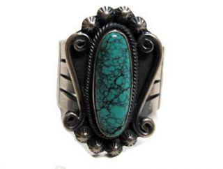 Freddie Maloney – Spider Web Kingman Turquoise Ring