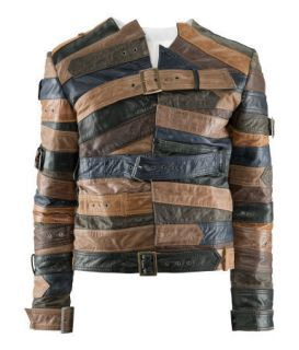 maison Martin Margiela H M Leather Belted Rider Biker Jacket L