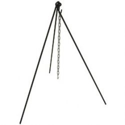 Cajun Classic Black Steel Cook Out TriPod camping stand W Chain and