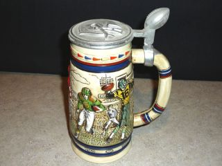Avon Baseball 1984 Ceramic Beer Steins Made in Brazil
