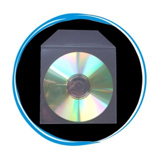 200 CPP Clear Plastic Sleeve Envelope Bag with Flap for CD DVD Disc