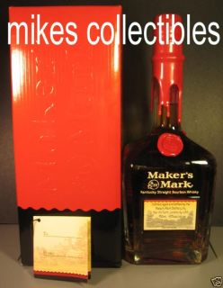 Makers Mark Red Wax VIP Personalized Bottle and Box Bourbon Whiskey