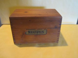 Vintage Wood Recipe Box Cedar Cooking Kitchen Food Old