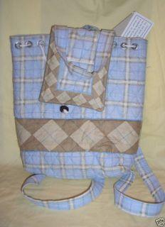 New Malabar Bay Handmade Blue Plaid Backpack