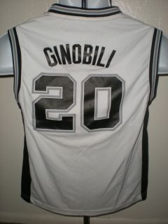 Manu Ginobili 20 San Antonio Spurs YOUTH Medium Adidas Jersey 1XU