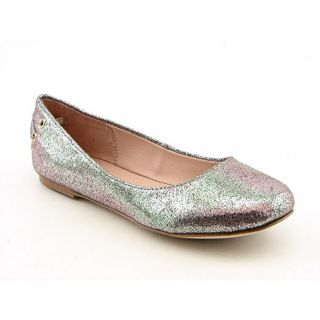 Steve Madden Stephi Youth Kids Girls Size 3 Silver Flats Leather Flats