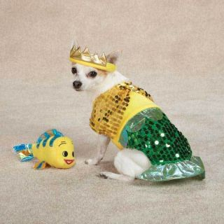 SMALL min pin maltese poodle yorkie DOG COSTUME LIL MERMAID halloween
