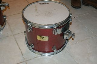 Mapex Pro M Mars Series 12 x 10 Tom Drum Red Lacquer
