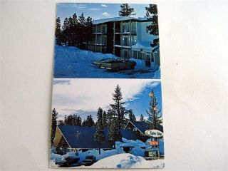 Alpine Lodge Motel Mammoth Lakes California CA Postcard