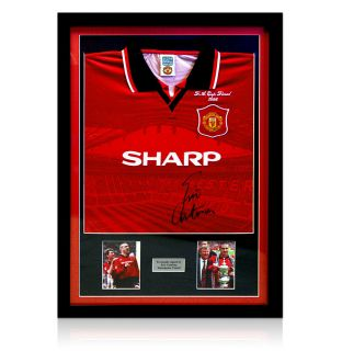 Framed Manchester United Shirt Signed by Eric Cantona