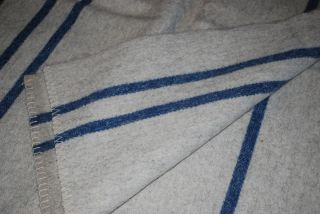 Czech Military Surplus 100 Pure Wool Blanket 57 x 74 Army Gray White