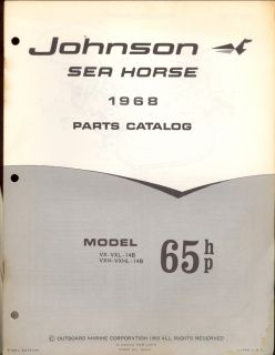 1968 Johnson 65HP Outboard Motor Parts Manual