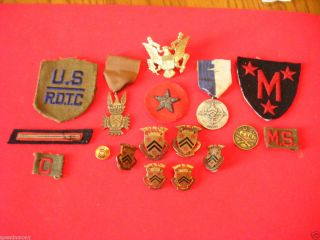 Manlius Military Academy Engraved Medal Patches Dis Grouping