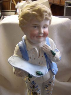 Antique Vintage German Bisque Doll or Boy Figurine with Bugs
