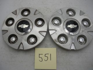 Lot of 2 Chevy S10 Xtreme 99 04 Wheel Center Caps Hubcaps